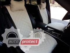 Фото 2 - Аvторитет Premium Накидки из экокожи на передние сиденья, бежевые, 2шт