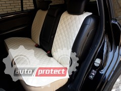 Фото 4 - Аvторитет Premium Накидки из экокожи на передние и задние сиденья, бежевые