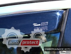 Фото 3 - Heko Дефлекторы окон  Ford Focus 2011 -> Седан / Хетчбек , вставные чёрные 4шт