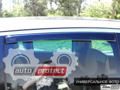 Фото 6 - Heko Дефлекторы окон (ветровики) VW Fox 2005 -> вставные, черные 2шт