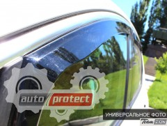 Фото 2 - Heko Дефлекторы окон  Mitsubishi Outlander 2012-> вставные, черные 2шт