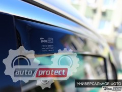 Фото 4 - Heko Дефлекторы окон  AUDI A4 (B8) 2008-2011 , вставные чёрные 2шт