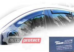 Фото 1 - Heko Дефлекторы окон  Peugeot 407 2004-> , вставные чёрные 2шт