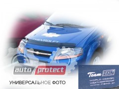 Фото 3 - Heko Дефлекторы капота  Chevrolet Aveo 4D 2004-> Хетчбек / ->2006 Седан , на зажимах