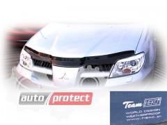 Фото 1 - Heko Дефлекторы капота Renault Logan 2004 -2012 , на зажимах