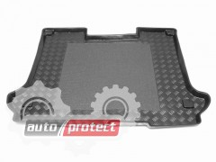 Фото 1 - TM Rezaw-Plast Коврики в багажник Fiat Doblo Panorama 2000-2010->  резино-пластиковый, черный 1шт