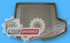 Фото 1 - TM Rezaw-Plast Коврики в багажник Mitsubishi Lancer  2008 -> резино-пластиковые, спортбэк, черные, 1шт