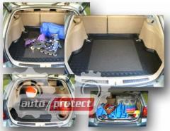 Фото 1 - TM Rezaw-Plast Коврики  в багажник Renault Logan MCV 2013 -> резино-пластиковый, универсал 2 шт. Station, черный