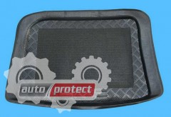 Фото 1 - TM Rezaw-Plast Коврики в багажник Seat Ibiza 1996-2002-> резино-пластиковый, хетчбэк, черный, 1шт
