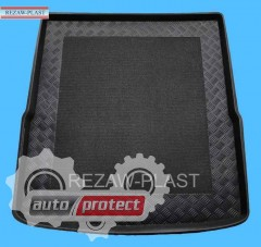Фото 1 - TM Rezaw-Plast Коврики в багажник VW Passat B6 2005-2011, B7 2010-> резино-пластиковый, комби Variant, черный, 1шт