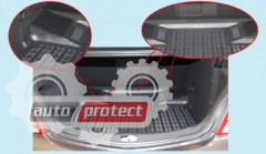 Фото 4 - TM Rezaw-Plast Коврики в багажник VW Polo 5 2009-> полиуретановый, хетчбэк, нижний багажник, черный, 1шт