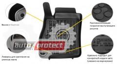 Фото 2 - TM Rezaw-Plast Коврики в салон Fiat Doblo 2009-> Opel Combo C 2011-> полимерные (резиновые), черные 4шт