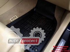 Фото 5 - TM Rezaw-Plast Коврики в салон Honda Civic 2006-2012-> полимерные (резиновые), седан, задний цельный, черный, 3 шт.
