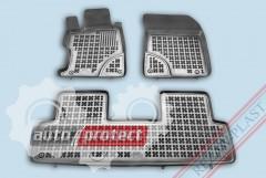Фото 1 - TM Rezaw-Plast Коврики в салон Honda Civic 2012-> полимерные (резиновые), седан, задний цельный, черный, 3 шт.