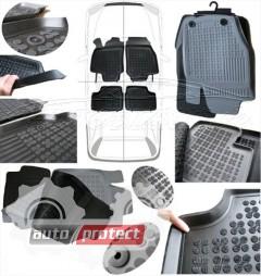 Фото 3 - TM Rezaw-Plast Коврики в салон Nissan Almera N16 2000-2006-> полимерные (резиновые), черный, 4 шт.