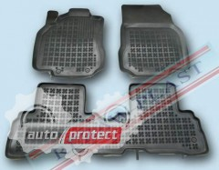 Фото 1 - TM Rezaw-Plast Коврики в салон Nissan Cube 2010-> полимерные (резиновые), задний цельный, черный, 3 шт.