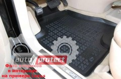 Фото 4 - TM Rezaw-Plast Коврики в салон Nissan NV200 2009-> полимерные (резиновые), черный, 3 шт.