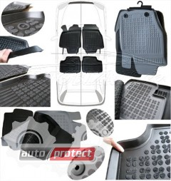 Фото 3 - TM Rezaw-Plast Коврики в салон Opel Mokka 2012-> полимерные (резиновые), черный, 4 шт.