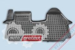 Фото 1 - TM Rezaw-Plast Коврики в салон Opel Vivaro 2001-2010/Trafic II 2001-> полимерные (резиновые), черный, 1 шт.