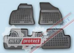 Фото 1 - TM Rezaw-Plast Коврики в салон Peugeot 3008 2009-> полимерные (резиновые), задний цельный, черный, 3 шт.