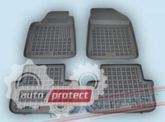 Фото 1 - TM Rezaw-Plast Коврики в салон Peugeot 407 2004-2008-> полимерные (резиновые), черный, 4 шт.