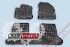 Фото 1 - TM Rezaw-Plast Коврики в салон Renault Dokker 2012-> полимерные (резиновые), задний цельный, черный, 3 шт.