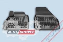 Фото 1 - TM Rezaw-Plast Коврики в салон Renault Kangoo 2008-> полимерные (резиновые), передние, черный, 2шт.