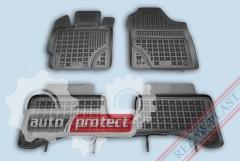 Фото 1 - TM Rezaw-Plast Коврики в салон Toyota Yaris III 2012-> полимерные, задний цельный, черный, 3шт.