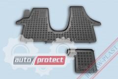 Фото 1 - TM Rezaw-Plast Коврики в салон VW T5 Multivan 2003-> полимерные, черный, 2шт