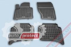 Фото 1 - TM Rezaw-Plast Коврики в салон VW Touareg 2010-> полимерный, черный, 4шт