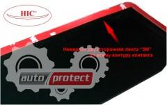 Фото 2 - HIC Дефлекторы окон  Honda Civic 2012 ->, Седан -> на скотч, черные 4шт