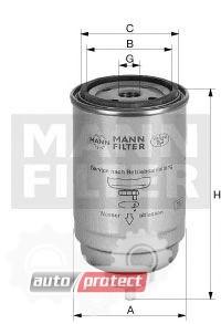 Фото 1 - MANN-FILTER WK 724/4 фильтр топливный
