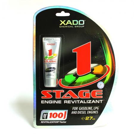 Фото 1 - Xado 1 STAGE Гель-ревитализант для бензинового и дизельного двигателей