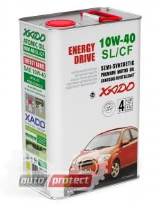 Фото 1 - XADO Atomic OIL 10W-40 SL/CF Полусинтетическое моторное масло