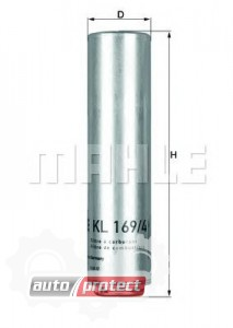 Фото 1 - MAHLE KL 169/4D фильтр топливный