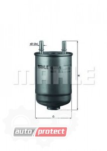 Фото 1 - MAHLE KL 485/5D фильтр топливный